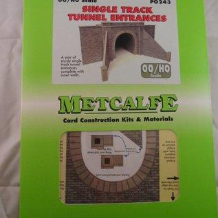 Metcalfe Metcalfe PO243 Tunnelpoorten enkelspoor (schaal H0/OO)