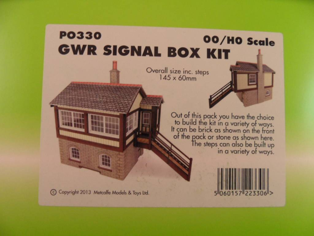 Metcalfe PO330 00//H0 GWR Signal Box Kit Builds as Stone or Brick