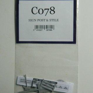 Dapol C078  Aanwijsbord en hek