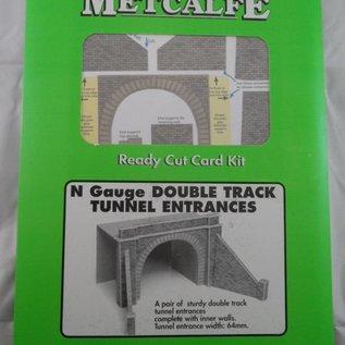 Metcalfe Metcalfe PN142 Tunnelpoorten dubbelspoor (Schaal N)
