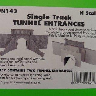 Metcalfe Metcalfe PN143 Tunnelportale eingleisig Spur N