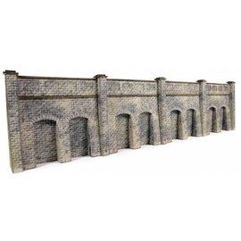 Metcalfe Metcalfe PN144 Steun- galerijmuren in grijze steen (Schaal N, Karton)