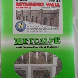Metcalfe Metcalfe PN144 Arkadenstützmauer in grauem Stein (Spur N)