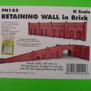 Metcalfe Metcalfe PN145 Steun-, galerijmuren in rode baksteen (N-Schaal)