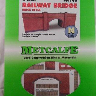 Metcalfe Metcalfe PN146 Railway bridge in red brick (N-Gauge)