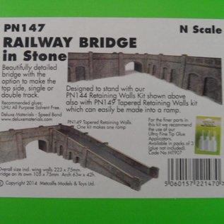 Metcalfe Metcalfe PN147 Spoorbrug in grijze steen (Schaal N)
