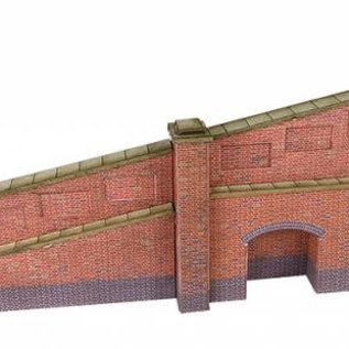 Metcalfe Metcalfe PN148 Tapered retaining wall in red brick (N-Gauge)