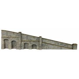 Metcalfe Metcalfe PN149 Tapered retaining wall in stone (N-Gauge)