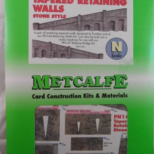 Metcalfe Metcalfe PN149 Arkadenstützmauer, steigend, in grauem Stein (Spur N)