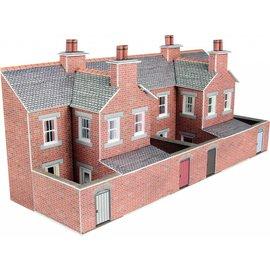 Metcalfe Metcalfe PN176 Achterzijde rijtjeshuizen in rode baksteen (Schaal N, Karton)