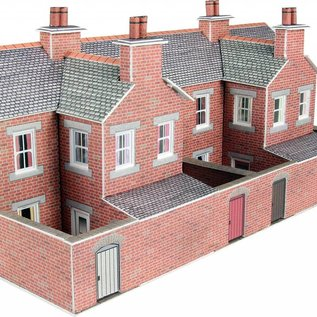 Metcalfe Metcalfe PN176 Low relief terraced red brick house backs (N-Gauge)
