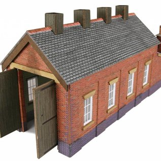 Metcalfe Metcalfe PN931 Single track engine shed in red brick (N-Gauge)
