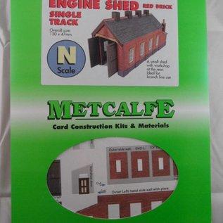 Metcalfe Metcalfe PN931 Eingleisiger Lokschuppen in rotem Backstein (Spur N)