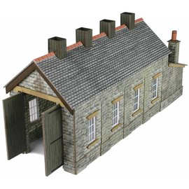 Metcalfe Metcalfe PN932 Single track engine shed stone style (N-Gauge)