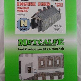 Metcalfe Metcalfe PN932 Enkelspoors lokloods in grijze steen (Schaal N, Karton)