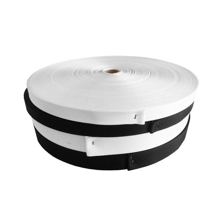 Nylonband 1366   Zwart 20 mm. Per rol 50 meter