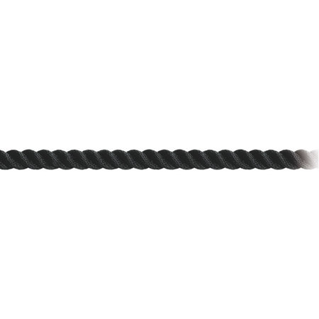 Touw Polyester Zwart. Per meter.