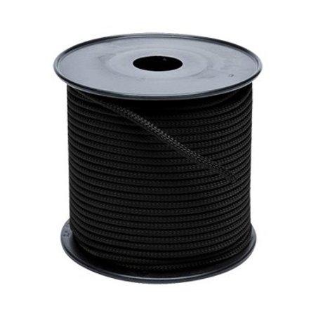 Touw polyester zwart 8 mm haspel 200m