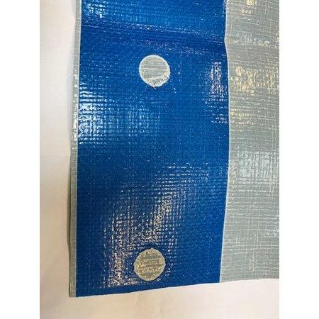 Dekzeil Super Premium 250 gr/m2. 4 x 8 m grijs. Zonder zeilkousen, met geperforeerde band voor zeilogen