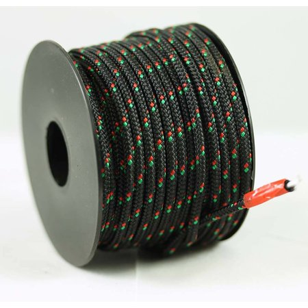 Polyester touw 3mm op spoel 17 m. Zwart Multicolor