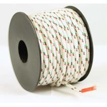 Polyester touw 3mm op spoel. Wit Multicolor