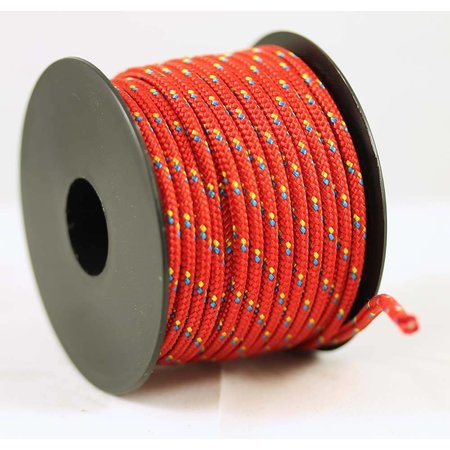 Polyester touw 3mm op spoel 17 m. Rood Multicolor