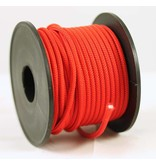 Polyester touw 3mm op spoel 17 m. Rood Unicolor