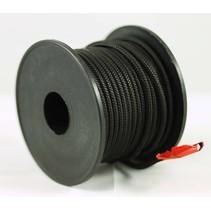 Polyester touw 3mm op spoel 17 m. Zwart Unicolor