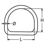Marinetech D ring halfrond RVS gelast