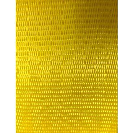 Veiligheidsgordelband / autogordelband Geel 48 mm. Per meter.