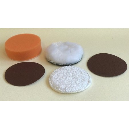 Polijst pads set diameter 80 mm
