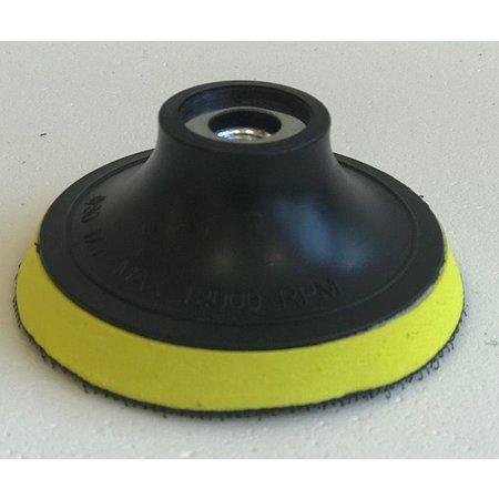 Marinetech Kop voor polijst machine met klittenband haak oppervlak voor pads. Diameter 80 mm.