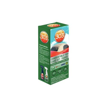 303 Products Cabriokap Care 475 ml voor stoffen kap. Inhoud: 1 spuitfles 303 Cleaner (473 ml) + 1 spuitfles 303 Fabric Guard (473 ml).