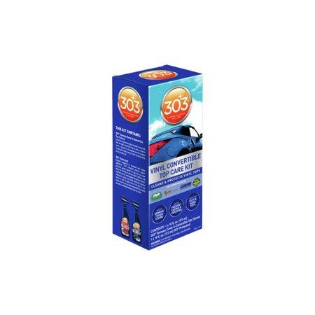 303 Products Cabriokap Care 475 ml voor vinyl kap. Inhoud: 1 spuitfles 303 Cleaner (473 ml) + 1 spuitfles 303 Aerospace Protectant (473 ml).