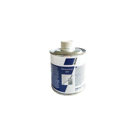 SABA Adhesives Contact 70T lijm voor zacht PVC. 250 ml.
