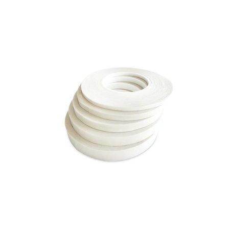 Dubbelzijdig Tape Non-Yellowing voor PVC doek en Dacron. Verkleurt niet. Rol 50 meter.