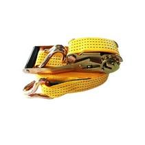 Spanband met ratel 50 mm, 900 cm, geel