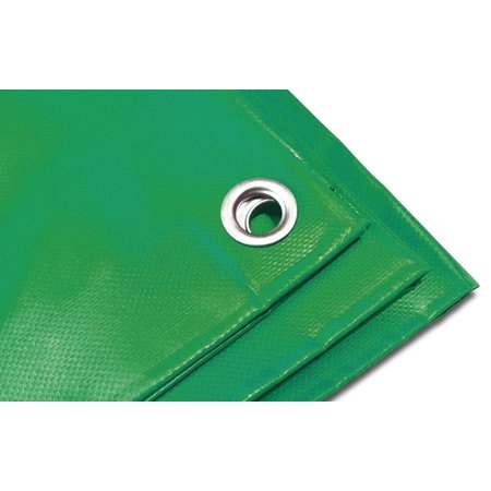 Lankotex Dekzeil Pro Tarp 570 gr/m2 PVC. 3 x 4 m Groen. Oersterk dekkleed UV bestendig voor uiteenlopende toepassingen.