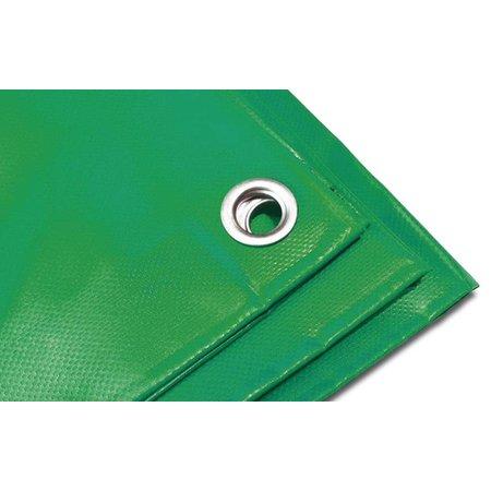Dekzeil Pro Tarp 570 gr/m2 PVC. 2,5 x 4,5 m Groen. Oersterk dekkleed UV bestendig voor uiteenlopende toepassingen.