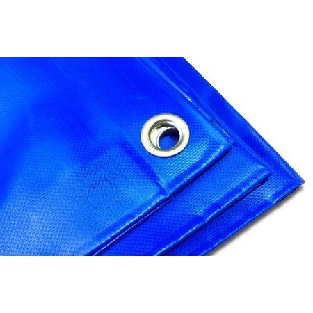 Dekzeil Pro Tarp 570 gr/m2 PVC. 8 x 10 m Blauw. Oersterk dekkleed UV bestendig voor uiteenlopende toepassingen.