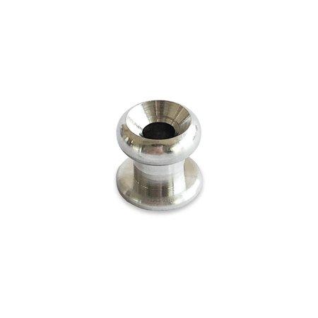 Marinetech Noorse Knop RVS. Diameter 10 mm. Hoogte 10 mm. Doorvoer 4,1 mm.