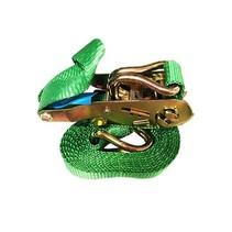 Spanband met ratel 25 mm, 300 cm, groen
