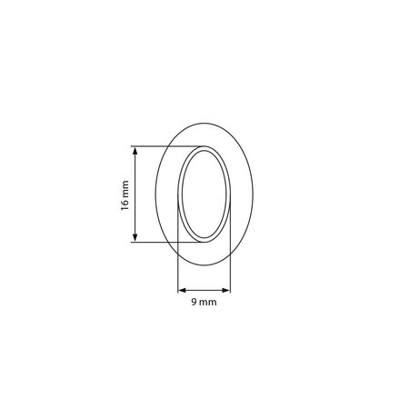 Prym Tourniquet Tegenplaat Kous 16 x 9 mm KV