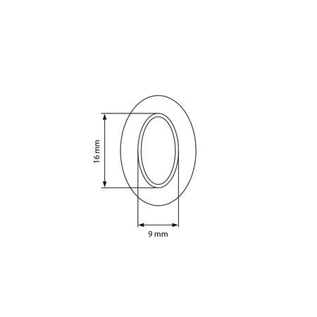 Prym Holpijp Ovaal Tourniquet 16 x 9 mm
