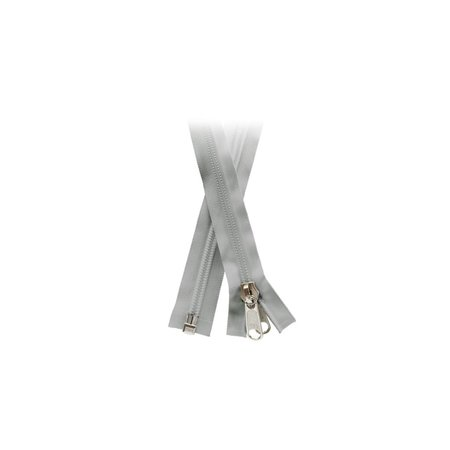 YKK Rits 10mm Deelbaar Grijs YKK. Schimmelwerend.