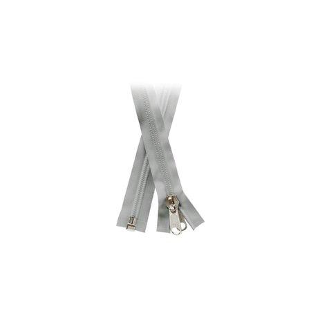 YKK YKK rits 10mm Deelbare Grijs rits. Schimmelwerend