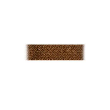 Boordband / Biesband Bruin acryl 20 mm .  voor het afbiezen van onafgewerkte doekranden. Prijs per meter.