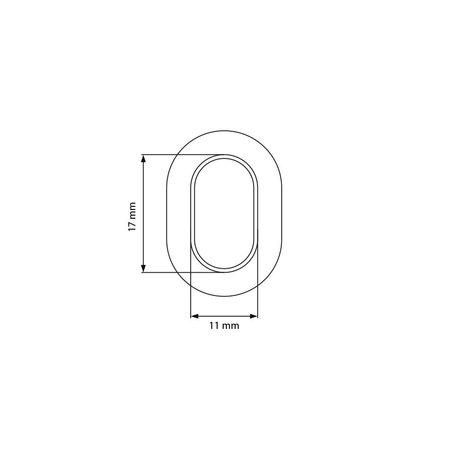 MH Tourniquet Draaier Koper voor Tourniquet Kous 17 x 11 mm. Hoogte 8 mm. Hartmaat gaten afstand 23,5 mm. Lengte 35 mm. Breedte 13 mm.