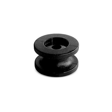 MH Rondknop Symetrisch 24 mm Zwart