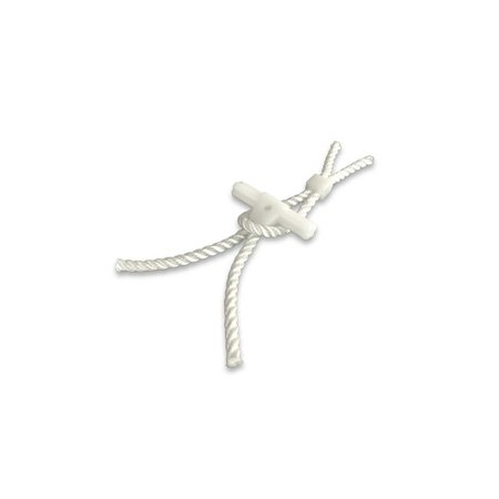 Knevel nylon 15 x 80 mm met touw & touw met klem